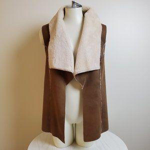 Bagatelle Faux-Saude Faux Shearling Lined Vest M